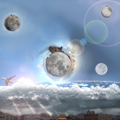 moons at World from beyond imagination