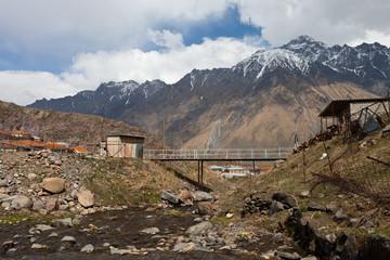 The village Kazbegi