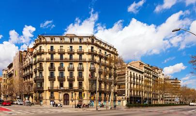 Autocollant pour porte Barcelona View of Barcelona, Spain. Gran Via