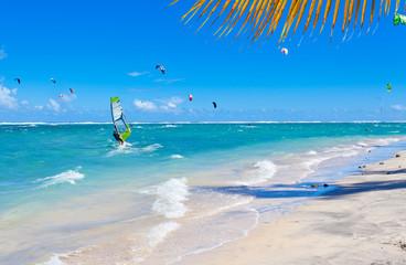 kite-surf, planche à voile, lagon de Saline, Réunion