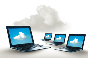 Laptop access to the clouds system