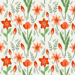 Seamless flowering field