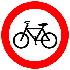 No bicycle vector sign
