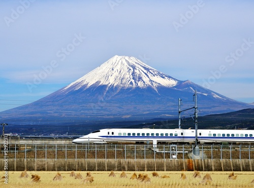 Wall mural Mt. Fuji and the Bullet Train