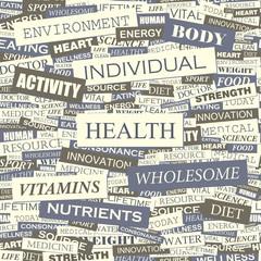 HEALTH. Word cloud concept illustration.
