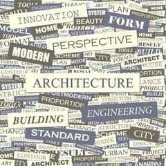 ARCHITECTURE. Word cloud concept illustration.