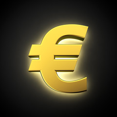 Luminous euro symbol