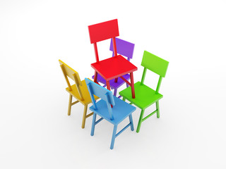 Chair Leadership Concept