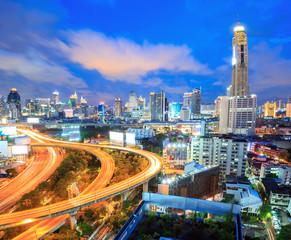 Fotobehang Las Vegas Bangkok Highway downtown