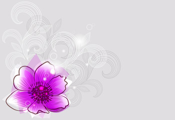 Background with pink abstract flower