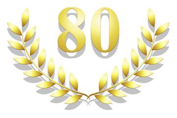 Lauriers 80 en or