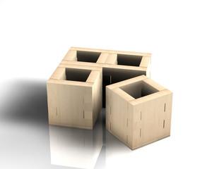 Kiste Holz 4er