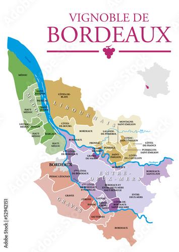 Carte Des Appellations Bordeaux.Vignoble De Bordeaux Fichier Vectoriel Libre De Droits Sur