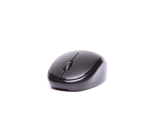 Wireless computer mouse isolated on white background full face