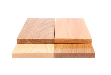 Four ends boards (acacia, oak, elm, lime)