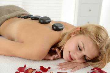 Frau beim entspannen