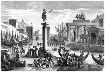 Scene Ancient Rome : Harbour - Port - Hafen