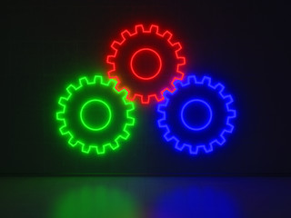 Gears - Series Neon Signs