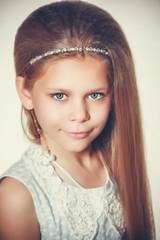 Portrait of a little fashion kid girl