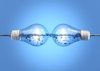 Light bulbs with liquid