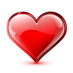 Illustration of a bright and glossy vector heart