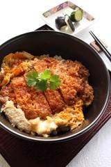 Japanese cuisine, Katsudon deep fried pork on rice