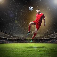 Keuken foto achterwand voetbal Football player