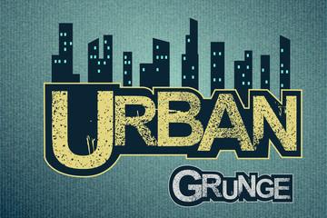 Urban background on grange texture