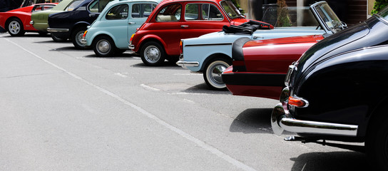 Foto op Canvas Vintage cars vintage car show