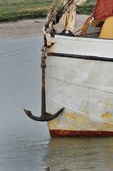 Anchor on front of Boat in portrait