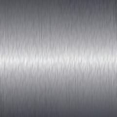 Brushed aluminium metal plate background