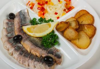 Marinated herring with potatoes