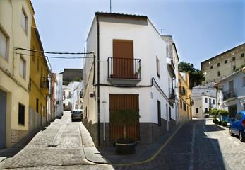 calles de Sagunto, España, subida al castillo