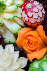 Carved vegetables