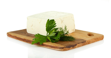 Sheep milk cheese with parsley and dill