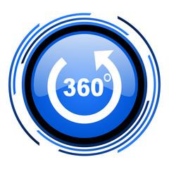 panorama circle blue glossy icon