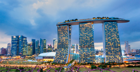 Foto auf Acrylglas Singapur Marina Bay Sands, Singapore,