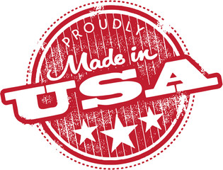 Vintage Made in USA Distressed Stamp