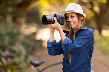 young photographer taking pictures