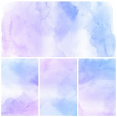 Watercolor Background. Set of colorful Abstract water color art