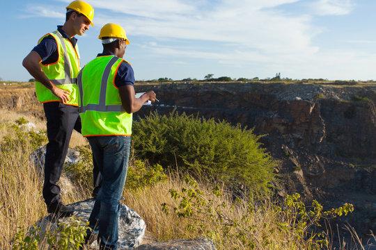surveyors working at mining site