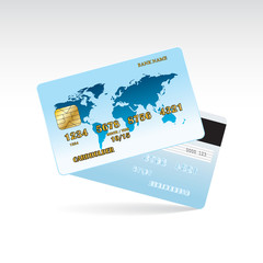 Credit card of the front and back side