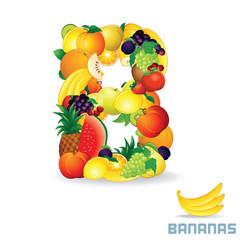 Alphabet From Fruit. Letter B