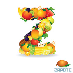 Alphabet From Fruit. Letter Z