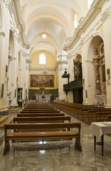 Cathedral of Ugento. Puglia. Italy.