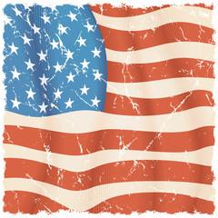 USA Flag Background. Grunge Illustration