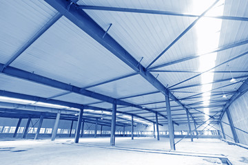 Industrial building internal plant landscape