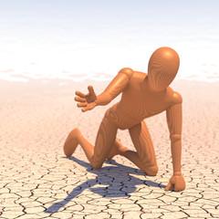 Verdurstender Wüste