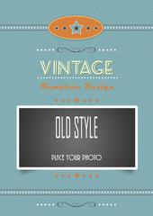 vintage template blue