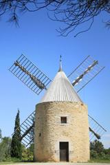 windmill in  Venejan, south of France